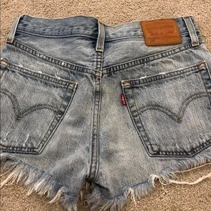 Light wash 501 shorts